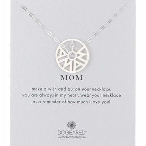 Dogeared Mom Token Pendant Necklace